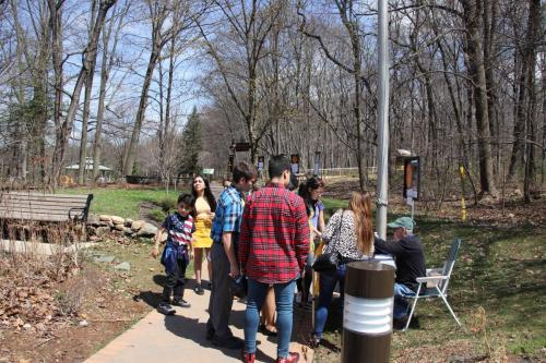 Start of the Solar System Walk at Trailside with AAI member Steve Kozma.Photo Credit: Mary Ducca