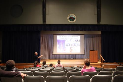 Mike Gironda giving a presentation at Trailside about the Moon.Photo Credit: Mary Ducca