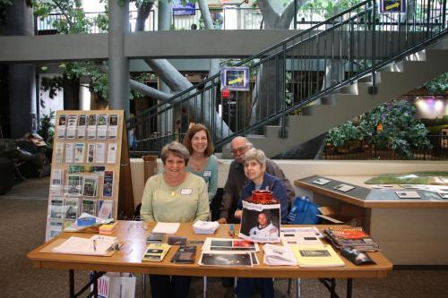 AAI members Janice Arcaro, Mary Ducca, Al Witzgall and Bonnie Witzgall at the Welcome Table at Trailside.Photo Credit: Mary Ducca